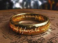 Кольцо Всевластия -размер 8, цвет - золото.