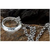 Кольцо всевластия, размер - 8, цвет - серебро