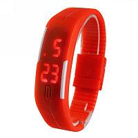 Силиконовые часы Sport, красный