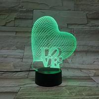 Светильники 3D - Сердце Love