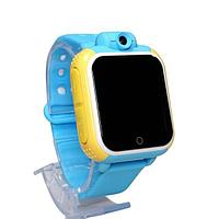 Умные детские часы Q100 c GPS трекером и камерой, голубой