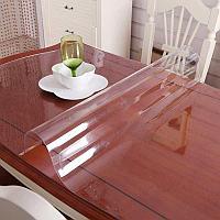 Гибкое стекло, скатерть прозрачная Soft Glass размер 140*100 см.