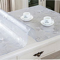Гибкое стекло, скатерть прозрачная Soft Glass размер 140*140 см.