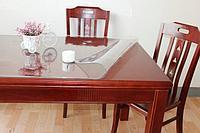 Гибкое стекло, скатерть прозрачная Soft Glass размер 140*80 см
