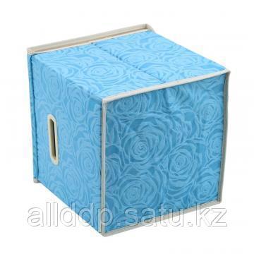 Короб для хранения вещей Розы, 37х24х25 см, голубой
