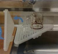 Угловая сушилка на раковину Drainer Tray, белый