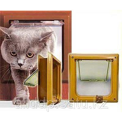 Дверь для кошки - Барсик, миланский орех - фото 1