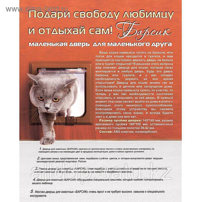 Дверь для кошки - Барсик, миланский орех - фото 5