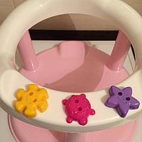 Стульчик для купания на присосках, цвет розовый