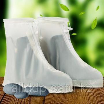 Защитные чехлы для обуви от грязи и дождя для взрослых, белый