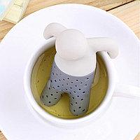 Ситечко для заваривания чая - Человечек, серый