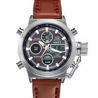 Часы AMST 3003 - серебристый корпус, серый циферблат