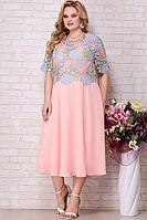 Женское летнее шифоновое большого размера платье Aira Style 828 58р.