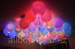 Светящиеся воздушные резиновые шарики, 5 шт