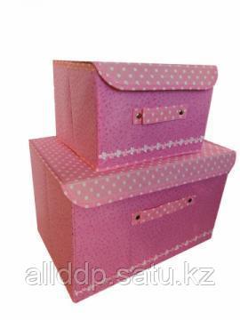 Набор складных коробов с клапанами, 2 шт, розовый