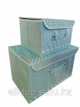 Набор складных коробов с клапанами, 2 шт, голубой