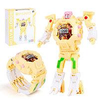Часы-игрушка трансформер Robot Watch, желтый