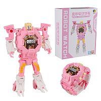 Часы-игрушка трансформер Robot Watch, розовый