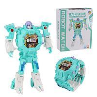 Часы-игрушка трансформер Robot Watch, мятный