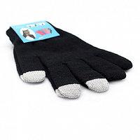 Перчатки для сенсорных экранов - черные, 3 пальца