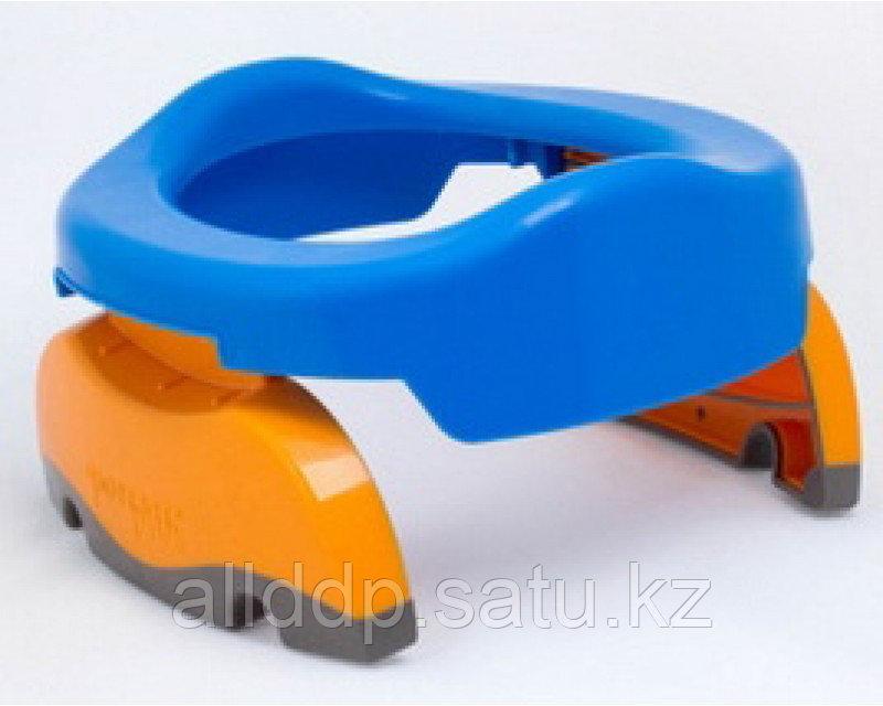 Горшок детский дорожный, складной, цвет голубой, в комплекте 10 одноразовых пакетов