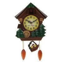 Часы настенные с кукушкой, детские - Мельница с колесом, 18х21 см