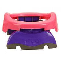 Горшок детский дорожный, складной, цвет розовый, в комплекте 10 одноразовых пакетов