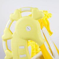Сиденье на унитаз со ступенькой - Морской конёк, цвет жёлтый