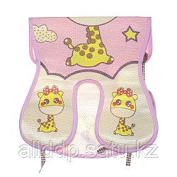 Вкладыш (подстилка) в коляску, розовый