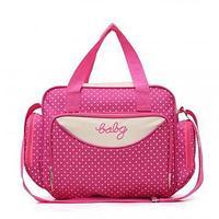 Компактная сумка для мамы Baby, 36х9х26 см, розовый