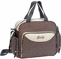 Компактная сумка для мамы Baby, 36х9х26 см, коричневый