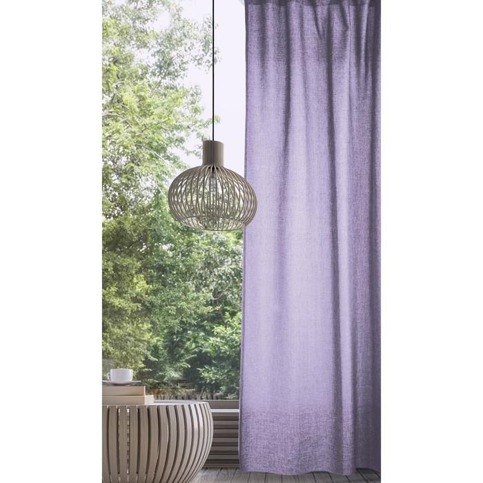 Комплект штор, размер 165х270 см - 2 шт., цвет лаванда, рогожка