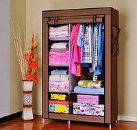 Тканевый шкаф для одежды, кофе