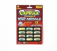 Растущие животные в капсуле - Дикие животные, набор 12 шт.
