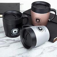 Термокружка Creative Cafe Style 330 мл, розовый