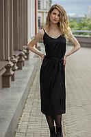 Женское осеннее нарядное платье Sisteroom ПлД-054 черно-изумрудный 42р.