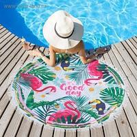 Полотенце пляжное - Good day 120х120 см, микрофибра