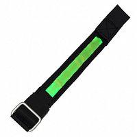 Сигнальный светодиодный браслет - зеленый/черный
