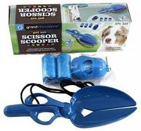 Набор с ножницами-лопаткой для уборки за собакой на улице Scissor Scooper