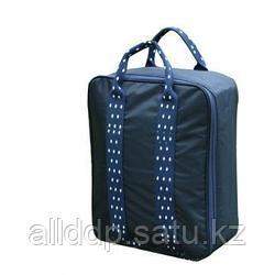 Складная дорожная сумка для путешествий с плечевым ремнём, 28х13х36 см, синий
