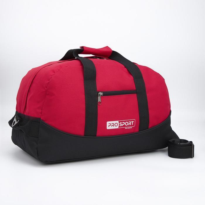 Сумка спортивная, отдел на молнии, наружный карман, цвет красный/чёрный