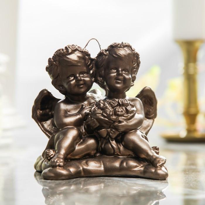 """Сувенир """"Амуры"""" подвесной, ангелы, цвет коричневый, 13 см"""
