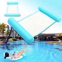 Складной плавающий гамак для воды - Floating Bed, голубой