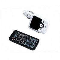 FM - трансмиттер, 12 В, USB/Mp3/WMA/AUX/MicroSD/Bluetooth, белый
