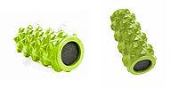 Валик для фитнеса массажный, зеленый