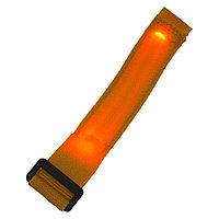 Сигнальный светодиодный браслет - оранжевый
