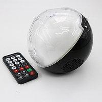 Цветомузыкальная колонка шар Bluetooth и MP3 плеер, цвет черный