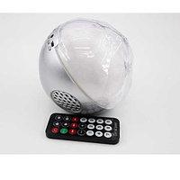 Цветомузыкальная колонка шар Bluetooth и MP3 плеер, цвет серебро
