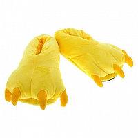 Тапочки кигуруми (тапки-лапы), детские, размер универсальный, желтый