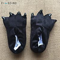 Тапочки кигуруми (тапки-лапы), взрослые, размер 40-45, черный